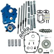 Sands 465g Gear Drive Cam Chest Kit W/chrome Pushrods Oil Cooled Harley M8 Engine