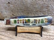 Case Limited Ed Christmas Knife W Original Scrimshaw By Harbour Of Charlie Brown