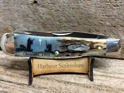 Case Limited Ed Christmas Knife W Original Scrimshaw By Harbour Of 2 Shepherds