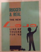 Nice Old 1962 Lojo Toy Truck Catalog With Price List From Marx Toy Factory