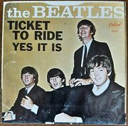 West Coast Beatles Ex++ Sleeve And Vinyl 1965 Ticket To Ride Plays Great Rare
