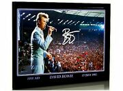 David Bowie Live Aid  Signed A4 Framed Tribute