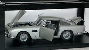 Autoart Aston Martin Db5 Silver Update 1/18 Diecast Fully Opening 70211 Boxed