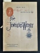 1889 Antique Jewelry Weekly Victorian 96pg Mag W Ads Jewelry Watches Silver Pens