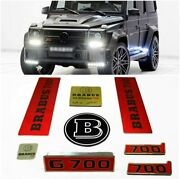 Mb G700 Style Emblems Badges Engine Covers Exterior Interior Set