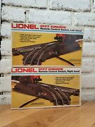Nos Lionel 027 Gauge Remote Control Switches, Left Hand And Right Hand