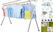 Clothes Drying Racks For Laundry Foldable Stainless Steel Pool Towel 79 Inch