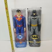 Dc Comics Large 12-inch Superman And Batman Action Figures Toy Kids Gift Sale New