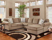 Chelsea Home Roosevelt 2 Pc Chaise Sectional With Jesse Cocoa 193050-sec-jc