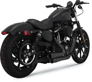 Vance And Hines Black Mini Grenade Exhaust System 04-19 Harley Davidson Sportster