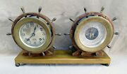 Al Polizzi Vtg Chelsea Brass Shipand039s Bell Clock Holosteric Barometer Thermometer