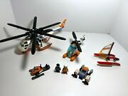 Lego City Coast Guard Helicopter 60013 + Helicopter From 60014