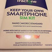 50 X Att Verizon To T-mobile Tracfone Byop Bring Your Own Phone Sim Card 3/1 Kit