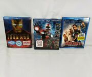 Iron Man Trilogy 1 2 3 Blu-ray With Slipcovers Free Shipping