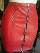 The Federation Rubber Latex Zip Mini Skirt All Sizes