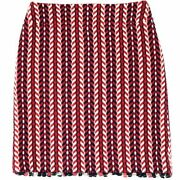 04aw Runway Wearing Coco Mark Tweed Trapezoidal Skirt Red System No.5384