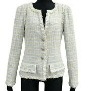 Tweed Jacket Outer Apparel Clothing Fashion 38 Cotton Wool Rayon No.6321