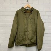 Light Olive Thermal Zip Up Jacket With Integral Sack - X-large British Army New