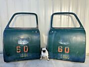 Vintage 1950and039s Chevy Truck Doors Matching Pair Logging Company Sisters Oregon