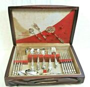 Vintage 1847 Rogers Bros Is Heritage Silver Plated Flatware 73 Piece Set