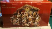 Retired 48pc Living Home Christmas Nativity Set Fine Porcelain Handcrafted Large