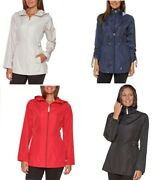 New Jones New York Womenand039s Packable Parka In A Pocket Rain Jacket