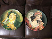 Vintage Tin Litho 16 Pair Falstaff Brewers Beer Sign Charger Advertising Signs