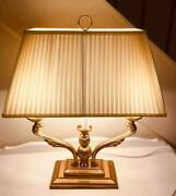 Luxury American Antique Style Table Bedside Lamps Lampshades Brass Table Lamp B