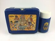 1985 Wwf Wwe Lunchbox With Thermos Hulk Hogan Roddy Piper Andre The Giant