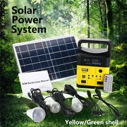 Solar Panel Power System Kit Charging Generator Camping Travel 3led Bulb Outdoor
