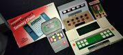 Vintage Lot Of 5 Hand Held Electronic Games Football, Tennis, Poker, Chess, + 1