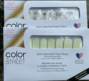 Color Street Nail Strips Glow-getter Glow In The Dark And Web Of Lies New