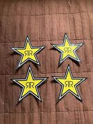 4 Authentic Rockstar Energy Drink Stickers Decal Sign Logo Bmx Motocross