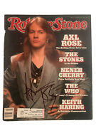 W Axl Roses Guns Roses Signed Autographed Rolling Stone Magazine Jsa Certified