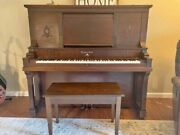 Antique, Brown, Upright Ludwig Piano In Good Condition