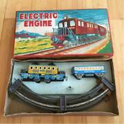 Tin Train Made In Japan Electric Engine Yonezawa Toy Vintage Retro Ef-57 Central