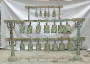 50.4 Old Chinese Bronze Ware Dynasty Palace People Chime Zhong Bell 19 Pcs Set