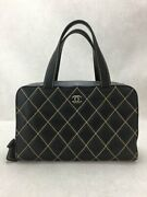 Handbags Leather Blk Bag Previously Owned From Japan Fedex No.3024