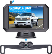 Wireless Backup Camera Hd 1080p With 5andldquo Monitor Hitch Rear View Camera For Truck