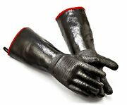 Bbq Grill Oven Gloves 14 Inches,932℉,heat Resistant Size 10/xl-14inch-932℉