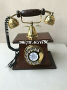 Antique Landline Phone Rotary Dial Old Style Telephone Table Top For Home Office