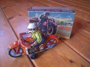 Vintage Indian Motocycle Tinplate Motorcycle With Box Made In Japan