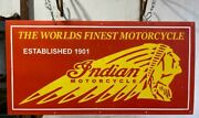 The Worldand039s Finest Motocycles 48x24 Inches Porcelain Enamel Sign Double Side