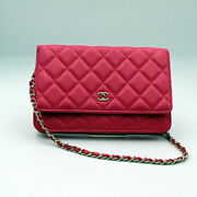 Matelasse Coco Mark Chain Wallet A33814 Materasse Pink No.3049