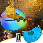 Inflatable Chair For Kids Bean Bag Led Furniture, Blow Up Couch Lounger Teen Air