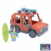Bluey, 4wd Family Vehicle, With 1 Figure And 2 Surfboards | Customizable Car - A