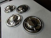 60 1960 Chevy Impala Bel Air Dog Dish Hubcaps Rechromed Full Set/4 Biscayne