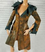 Coat Barbie Doll Long Brown Jacket Twilight Victoria Accessory Clothing