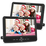 10'' Dual Car Dvd Player Portable Headrest Cd Players With 2 Mounting 10 Inch
