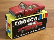 Tomica First Car Black Box Made In Japan 1-1 Nissan Bluebird Sss Coupe